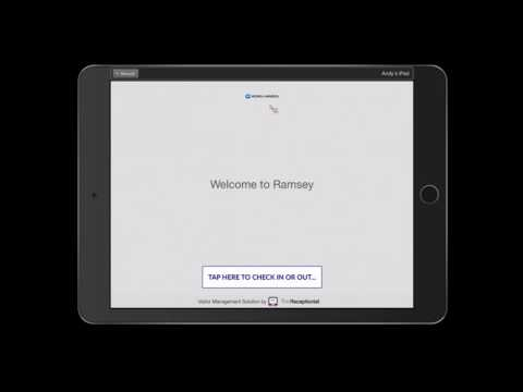 The Receptionist for iPad Visitor Experience and Admin Demo