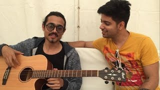 Bhuvan Bam & Siddharth Slathia Jamming at YouTube Fanfest Backstage