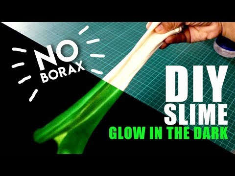 DIY Glow In The Dark Slime | No Borax | Mad Stuff With Rob