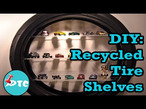 How to make a DIY Tire Shelve from an Old Tire