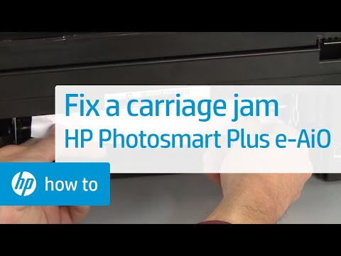 Fixing a Carriage Jam - HP Photosmart Plus e-All-in-One Printer (B210a)