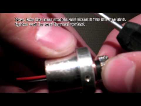How to make a cheap 1000mW+ Blue Laser Pointer