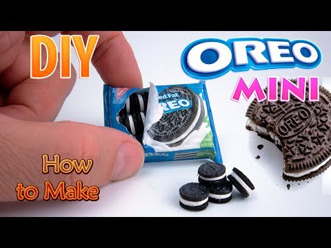 DIY Miniature Oreo Cookies | DollHouse | No Polymer Clay!