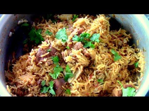 Pressure Cooker Mutton Biryani Recipe || Mutton Biriyani || Goat Biryani Recipe