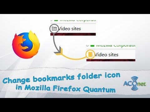 How to change bookmark folder icon in Firefox Quantum web browser?
