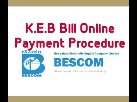 HOW TO PAY BESCOM - K.E.B BILL ONLINE EASY METHOD