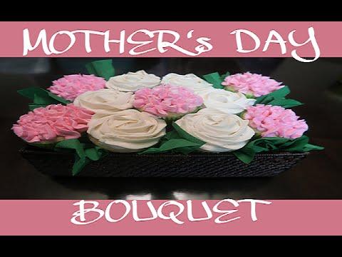 HOW TO MAKE Flower CUPCAKES Bouquet Basket    BUTTERCREAM ROSES & Hydrangeas Cake Tutorial