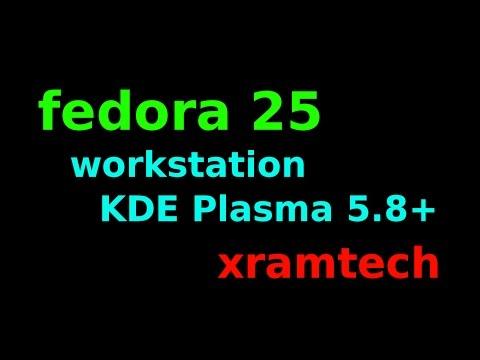 Fedora 25 KDE