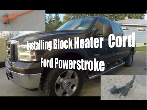 How to install Block Heater Cord - Ford Powerstroke