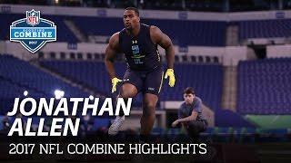 Jonathan Allen (Alabama, DL) | NFL | 2017 NFL Combine Highlights