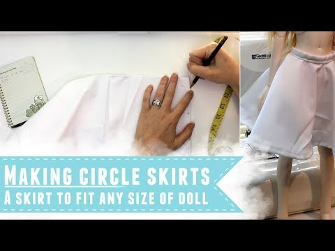 How to make an easy circle skirt for dolls