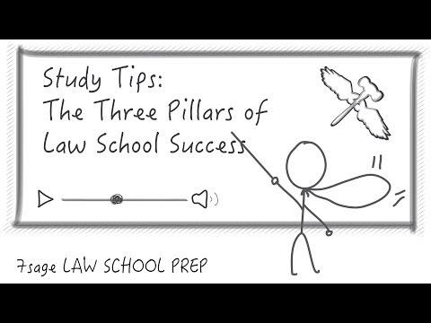 Study Tips: The Three Pillars of Law School Success - 7Sage Law School Prep