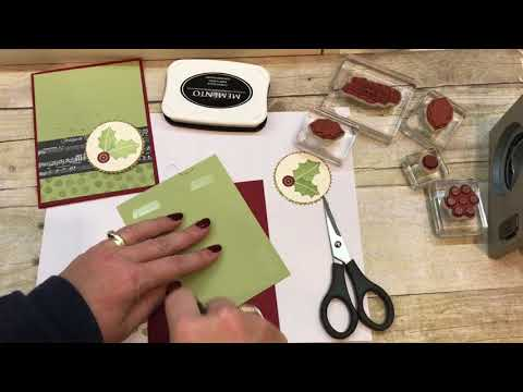 How to make a Simple Christmas Card for