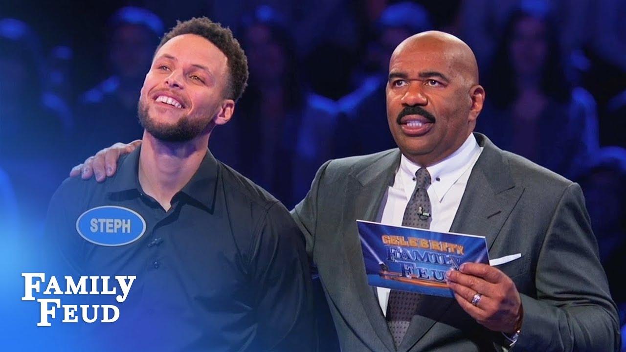 Ayesha & Steph Curry SLAM DUNK Fast Money! | Celebrity Family Feud