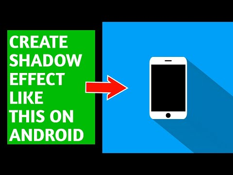 HOW TO MAKE A LONG SHADOW EFFECT ON ANDROID