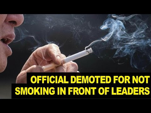 Chinese Official Demoted for NOT Smoking in Front of Religious Leaders