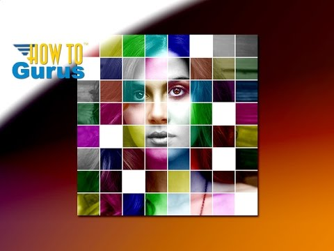 Photoshop Elements Art : Make a Multi-Color Mosaic Photo Manipulation 2018 15 14 13 12 11 Tutorial