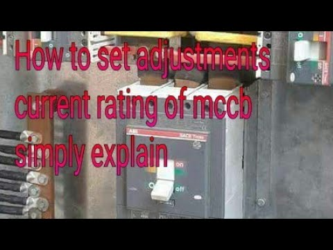How  to make settings of  mccb current rating  simple way new