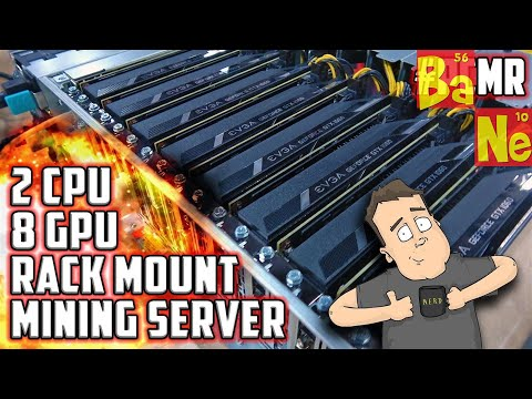 Ethereum Crypto Mining Custom PC Server with 8 Nvidia GTX 1060 6GB GPU