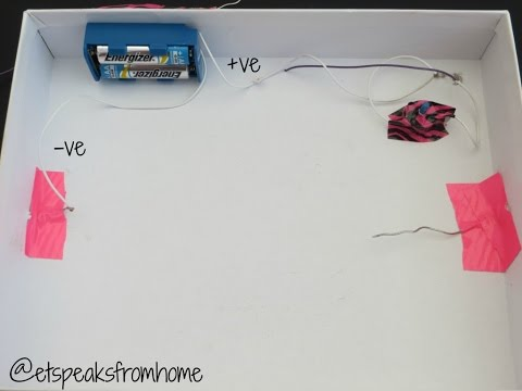 How to make a simple circuit  with on/off switch for a light bulb