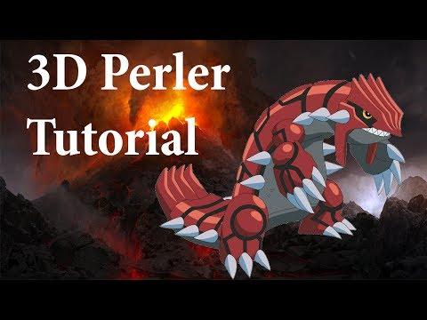3d groudon tutorial - perler beads