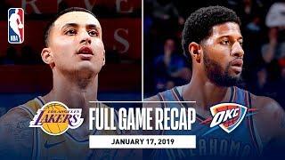 Full Game Recap: Lakers vs Thunder | Kuzma Goes Off For 32 Points