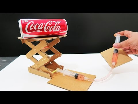 How to Make Hydraulic Powered Robotic Lift Crane From Cardboard