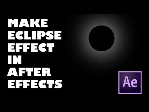 Make Eclipse Effect in After Effects