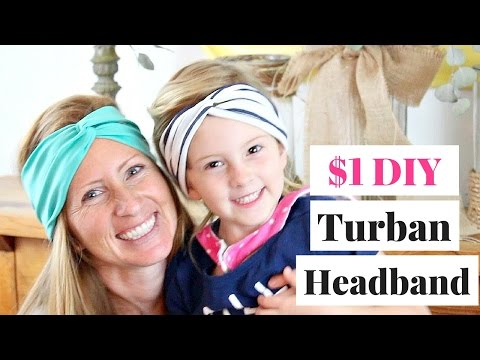 $1 Easy DIY Turban Headband in 10 Minutes | Easy DIY