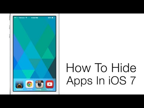 How To Hide Stock Apps In iOS 7