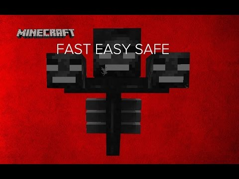 Minecraft 1.12 | How To Kill The Wither In Minecraft EASY FAST SAFE
