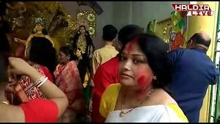 জলপাইগুড়ি বৈকন্ঠপুর রাজবাড়ি ঢাকের তালে,নাচের ছন্দে দেবীর বিদায়