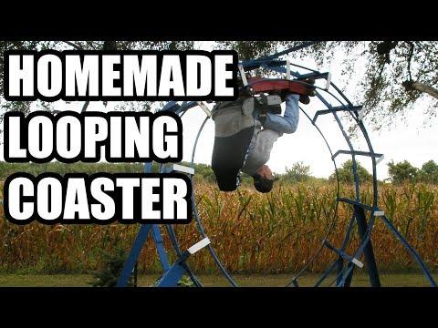 John Ivers' backyard roller coaster