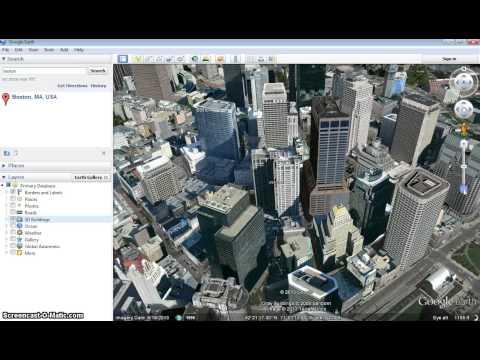Google Earth 4 3D Buildings