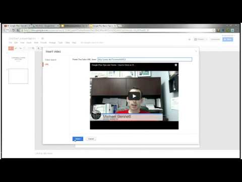 How To Link or Embed a YouTube Video in a Google Drive Presentation - Google+ Basics, Tips & Tricks