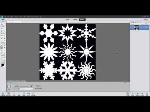 Photoshop Elements Made Easy, Part 16 (How to create snowflake images)