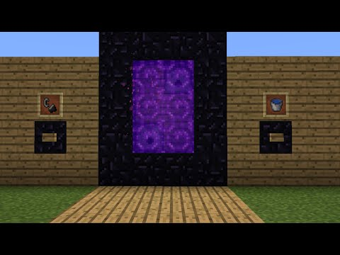 MCPE 0.14.0 : How to build an Automatic Nether Portal