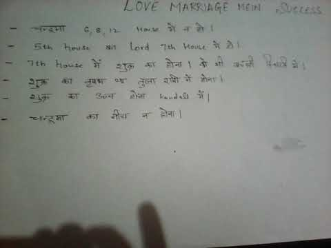Jaane love marriage mein success milegi ya nhi?