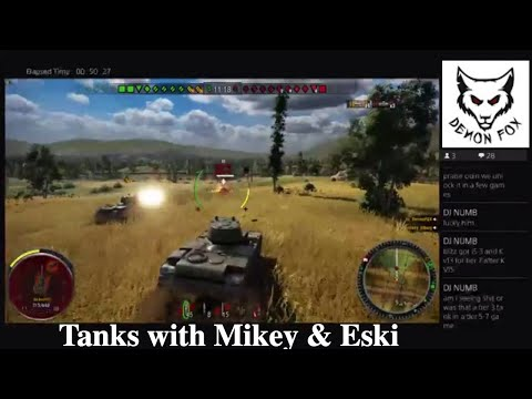 World of Tanks - DemonFox Live with Mikey Tilburg - stream replay