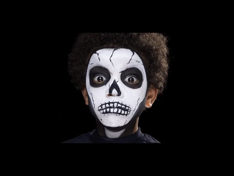 Skeleton Halloween Face Painting Make-up Tutorials for Children