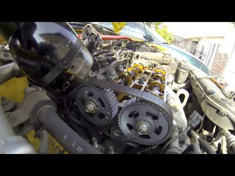 02-03 Mazda protege5 timing belt and water pump replace