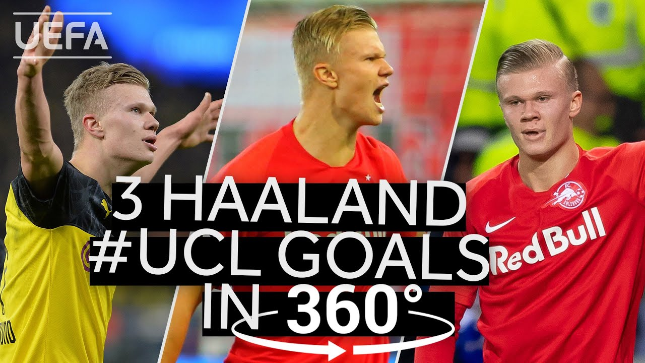 Relive three of the GREATEST HAALAND #UCL GOALS in 360°