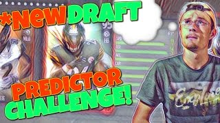 *NEW DRAFT CHAMPIONS PREDICTOR CHALLENGE!? Madden 17 Draft Champions