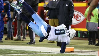 Marcus Mariota Insane Touchdown Pass to himself | NFL Wild Card Titans VS Chiefs