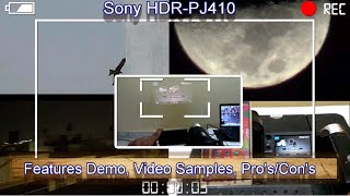 Sony HDR PJ410 Camcorder full review, video samples, Pro