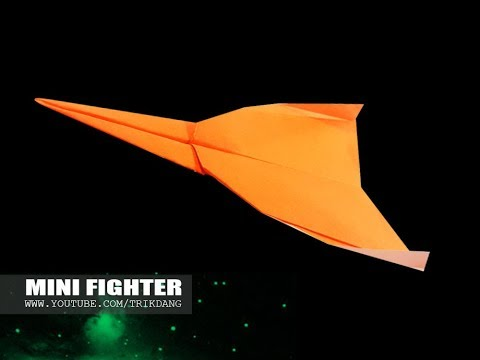 EASY ORIGAMI PLANE for Kids - How to make a Paper Airplane that Flies | Mini Fighter