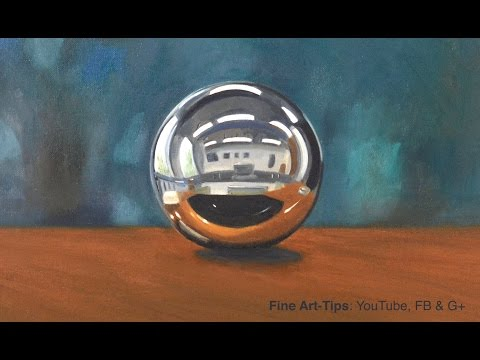 How to Paint a Chrome Sphere With Oil Paints