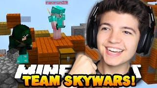 """Minecraft TEAM SKYWARS #12 """"THE PERFECT ATTACK!!""""   w/PrestonPlayz & Landon"""