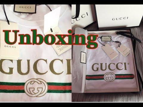 2017 GUCCI LOGO T-SHIRT Unboxing ❤