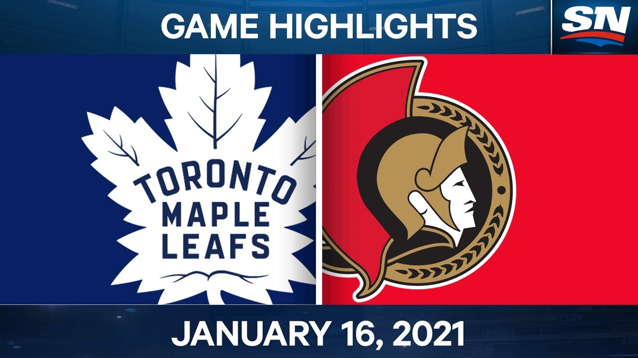 NHL Game Highlights | Maple Leafs vs. Senators - Jan. 16, 2021
